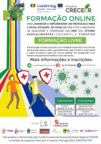 FORMAÇãO  ONLINE PARA CONHECER E IMPLEMENTAR UM PROTOCOLO PARA A ACTUAL SITUAÇãO DE COVID-19